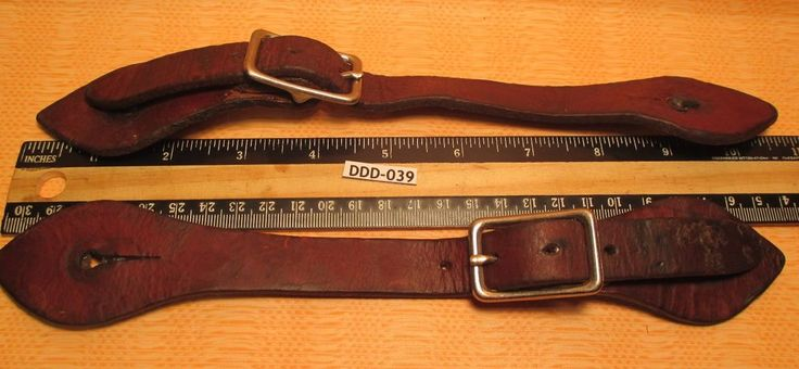 Well Used GOOD Unmarked Brown Leather Cowboy Western Spur Straps  MAKE OFFER