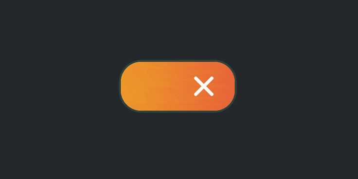 Pure CSS toggle with cross and tick animation