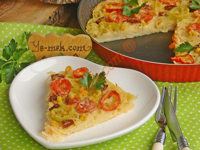 Makarna Pizza Tarifi (Resimli Anlatım)   Kolay ve Pratik Resimli Yeme