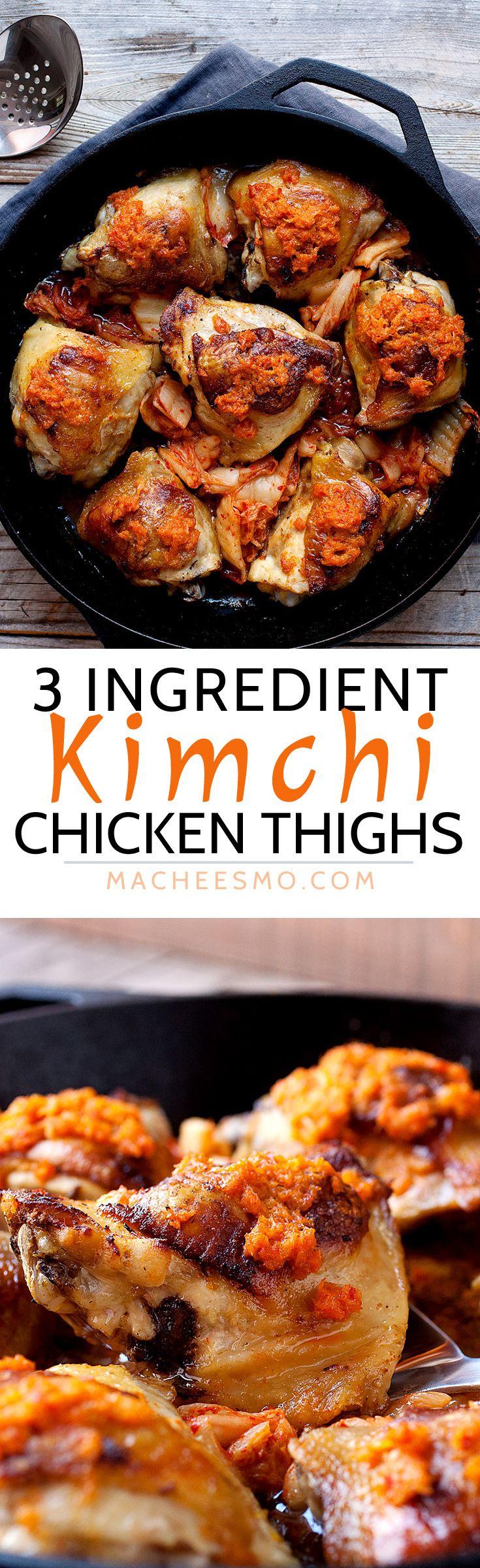 Kimchi Chicken Thighs