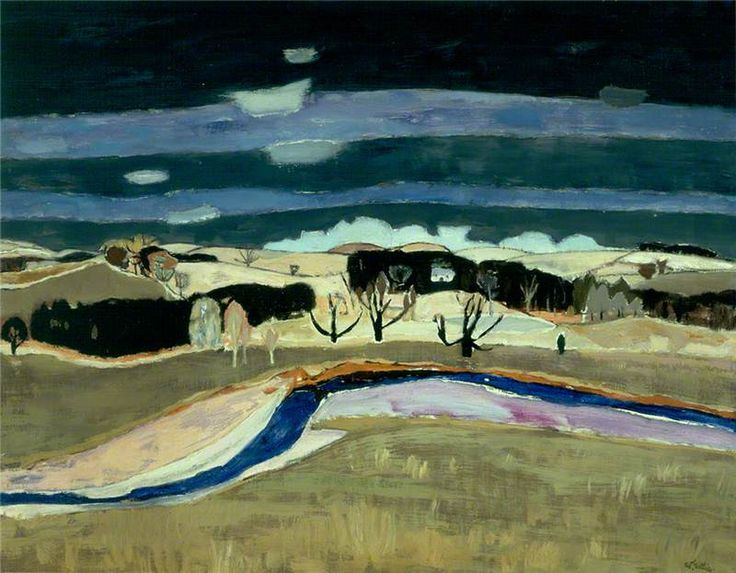 Dusk by William Gillies painted 1959