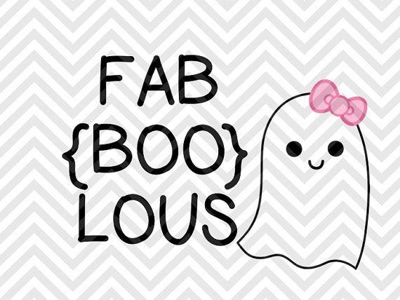 FaBoolous Fabulous Ghost Halloween Bow Cutie Pumpkin SVG file - Cut File - Cricut projects - cricut ideas - cricut explore - silhouette cameo projects - Silhouette projects by KristinAmandaDesigns