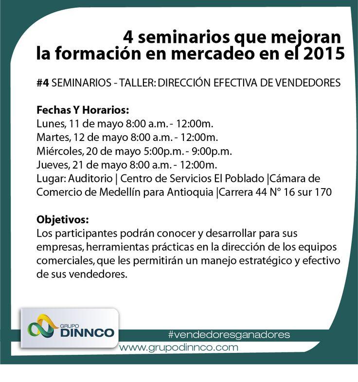 #vendedoresganadores Hoy finalizamos la información sobre  los seminarios - taller: dirección efectiva de vendedores