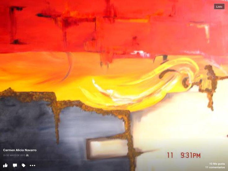 Carmen Alicia Navarro   Óleo y oxido sobre lienzo