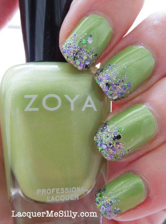 Mejores 110 imágenes de Nails - glitter en Pinterest | Diseño de ...