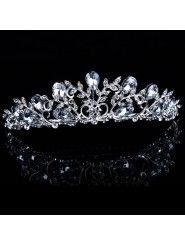 Rhinestiones and Zircons Wedding Bridal Tiara/Combs