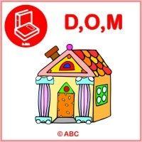 Interaktívna hra ABECEDA - Poznávam a priraďujem písmenká D, O, M