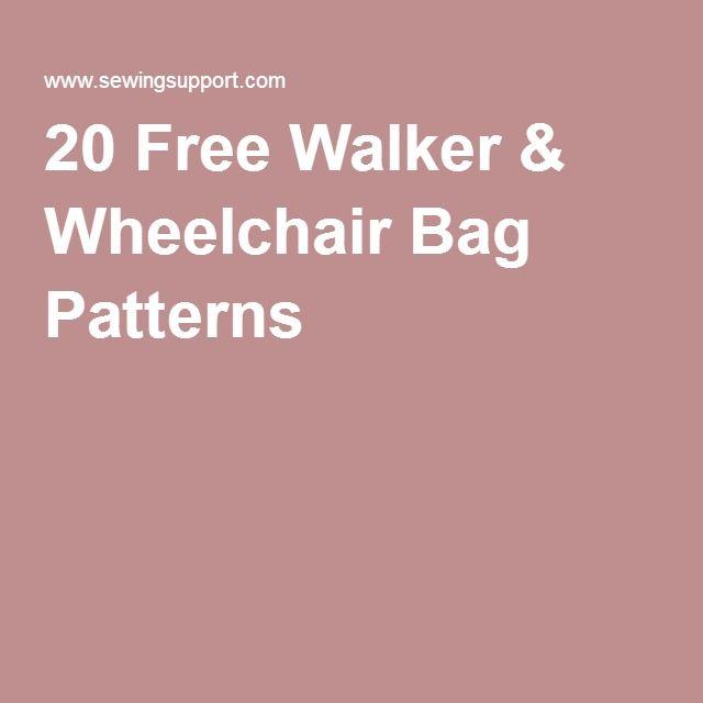 20 Free Walker & Wheelchair Bag Patterns