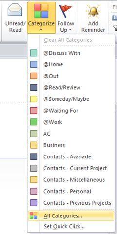 GTD w/Outlook categories
