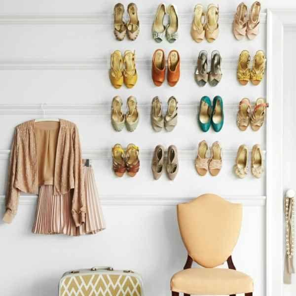 Schuhregal selber bauen \u2013 30 pfiffige DIY Ideen für Ihre - designer arbeitstisch tolle idee platz sparen