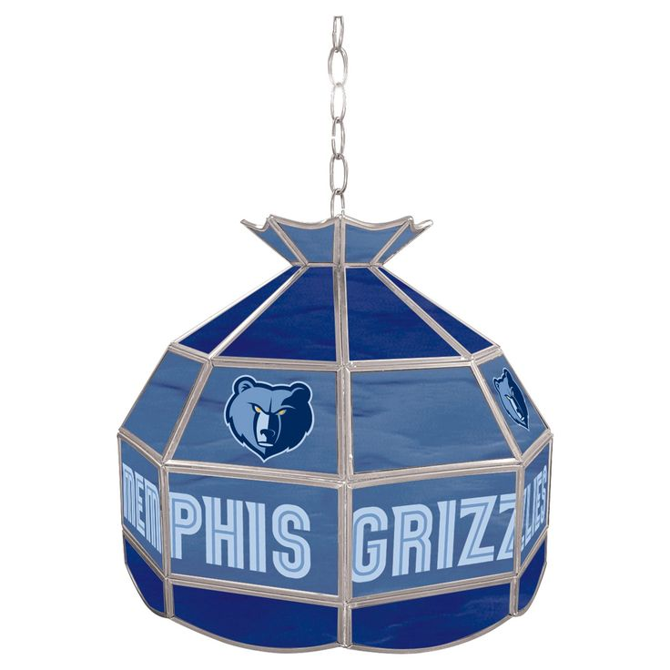Memphis Grizzlies Tiffany Style Lamp - 16 inch