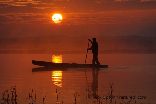 Polish punt at Dawn on the Biebrza Marshes, copyright Nick Upton. Nick has lived in Box for 21 years, using Wiltshire as a base and as inspiration for his work at home and abroad.  #creative #Wiltshire #Swindon #photographer