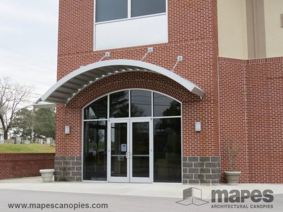 Arched Metal Canopies Hanger Rod Canopy Storefront