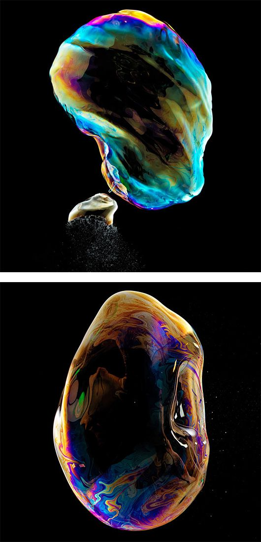 Bursting Soap Bubbles Photographed by Fabian Oefner