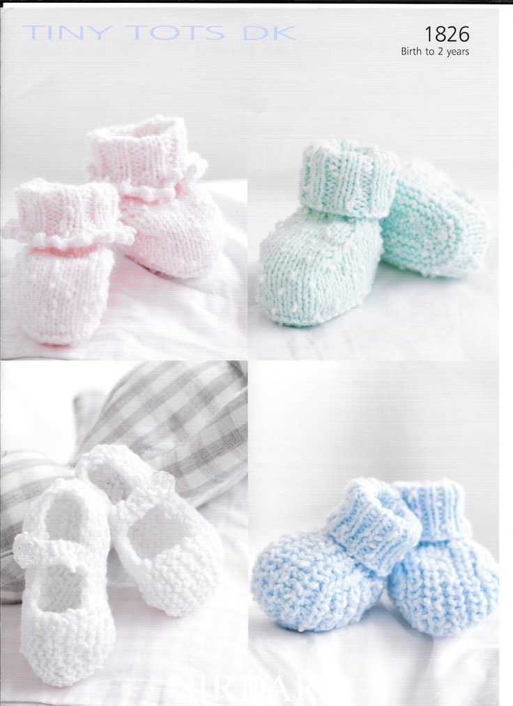 pdf Knitting Pattern Baby Child bootees Sirdar Snuggly dk  1826  0-2 yrs by Bobbinswool on Etsy