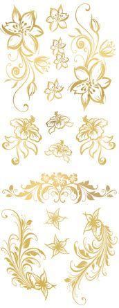 Golden Flowers Tattoos