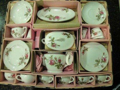 Vintage Moss Rose Child's Tea Set Porcelain Japan Complete Set   eBay
