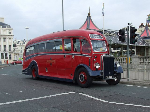 Leyland Halfcab bus by classic vehicles, via Flickr