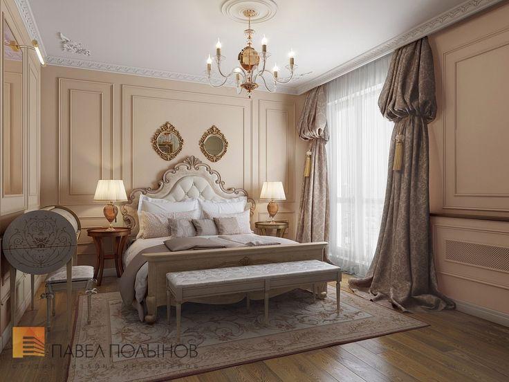Фото: Спальня - Трехкомнатная квартира в классическом стиле, ЖК «Дом на Дворянской», 111 кв.м.