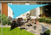 Voile d'Ombrage Bleu Azur Triangle 5m - Imperméable - 160g/m2 - Kookaburra