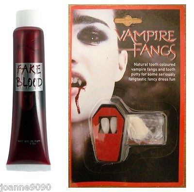 #Vampire dracula #fangs caps teeth fancy dress fake blood #putty adhesive hallowe,  View more on the LINK: 	http://www.zeppy.io/product/gb/2/191252936678/