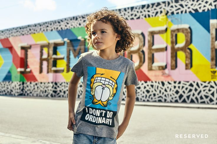 Reserved Kids SS16  #colorfull#t-shirt#garfield