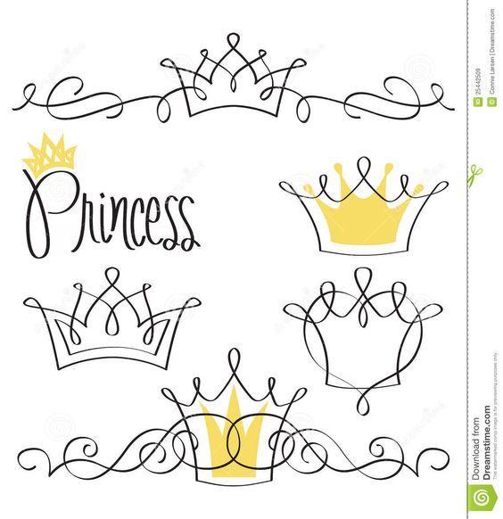 drawings princess crown - Google Search: