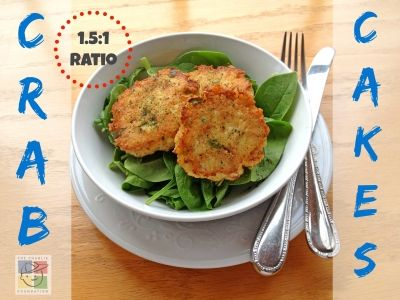 Recipe makes 1 serving Each serving provides: 502 calories Rato: 1.5:1 24.54 gm Protein 43.02 gm Fat 4.07 gm Carbohydrate * Serve the crab...