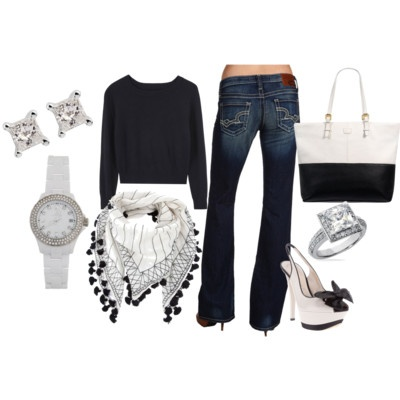 Love the shoes, very girly: Day Outfits, Dreams Closet, Fashion Style, Black And White, Diamonds Fashion, Style Pinboard, White Diamonds, Shoes Clothing Accessories, Black White Outfits
