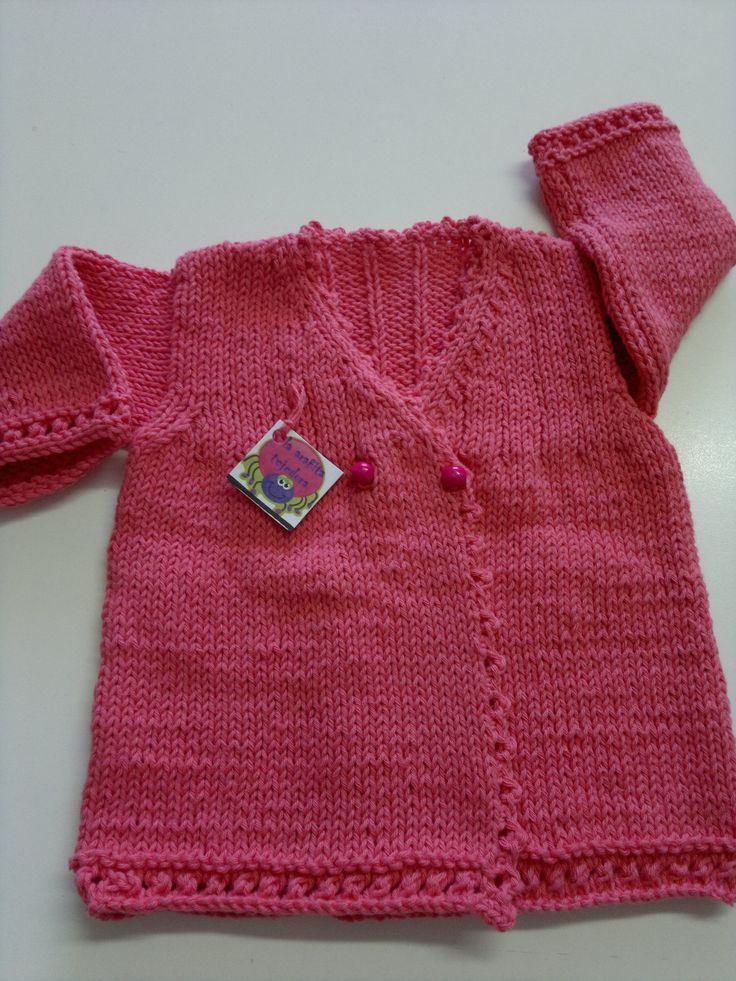 saquito de hilo para nena en tricot