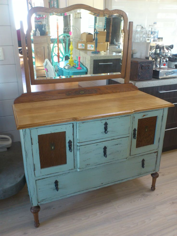 Vintage oak dresser by https://www.facebook.com/HeidiAltmannInteriorDesign
