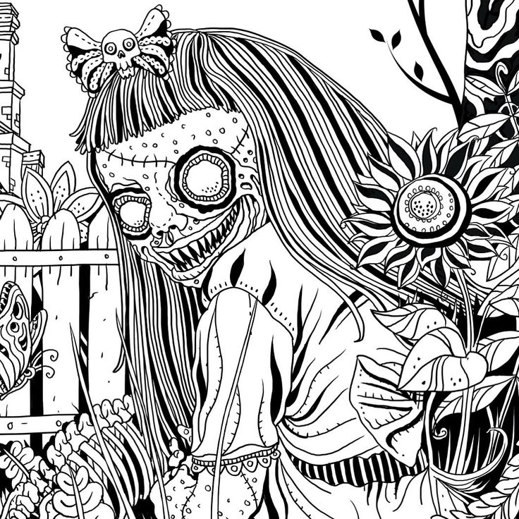 17 best images about projekty do wypr bowania on pinterest Horror coloring book for adults