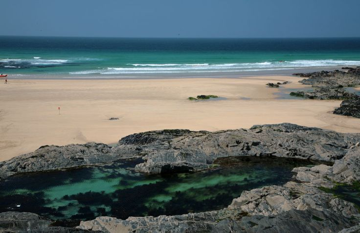 Constantine Bay in Cornwall, UK is not only a gorgeous sandy beach, but it had awesome rock pools too!