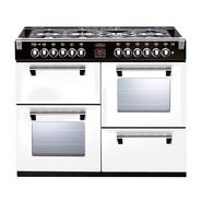 BELLING 110CM WHITE RICHMOND DUAL FUEL FREESTANDING OVEN - BR1100DFWH