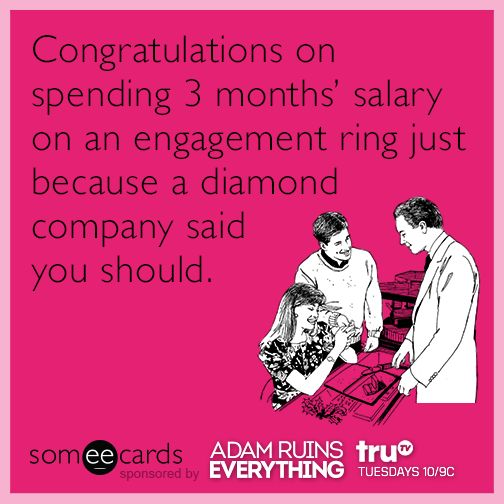 How many months salary wedding ring