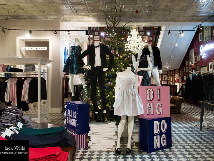 Prop Studiso creates Christmas Spirit with Jack Wills | The brief was to transform the Jack Wills stores into a wonderful slightly whacky Christmas. This would be a mash up of tacky with a slightly traditional twist.