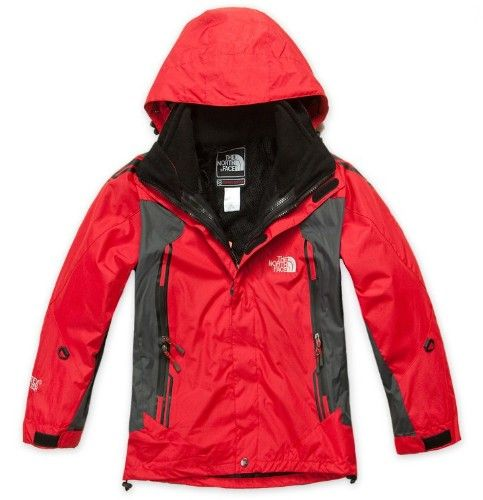 The kid north face free-tax Jacket Red