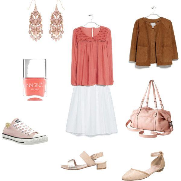 Office look by annaturcato on Polyvore featuring moda, MANGO, Zara, Converse, Nails Inc. and Anna Field
