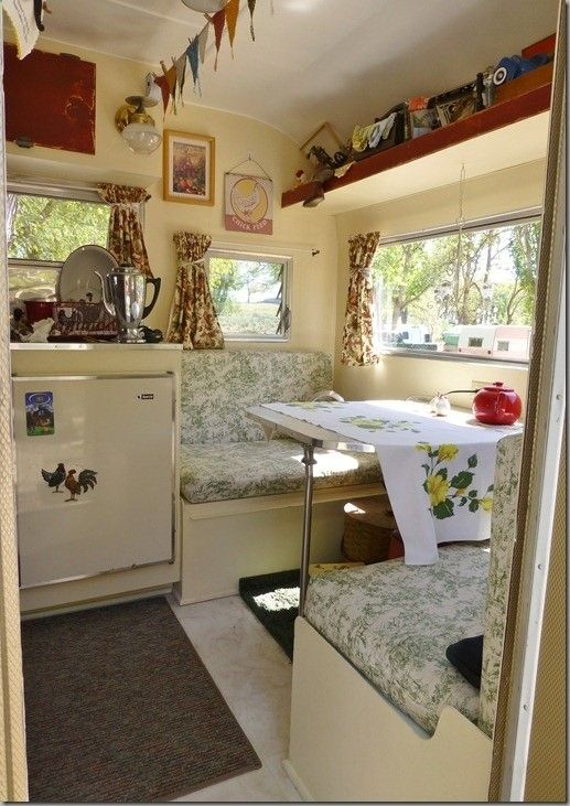 Glamping Trailers Inside | When we were at Sisters, Oregon, she even had a sewing machine on the ...