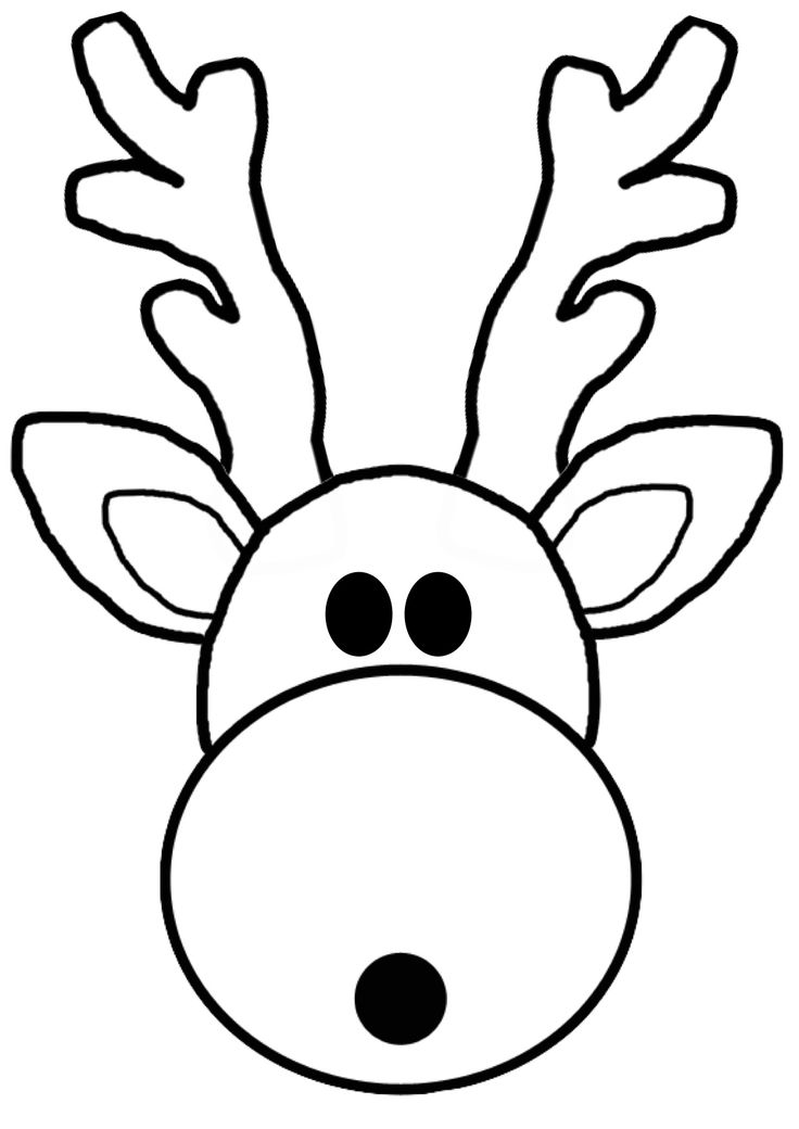 It is a picture of Smart Printable Reindeer Face