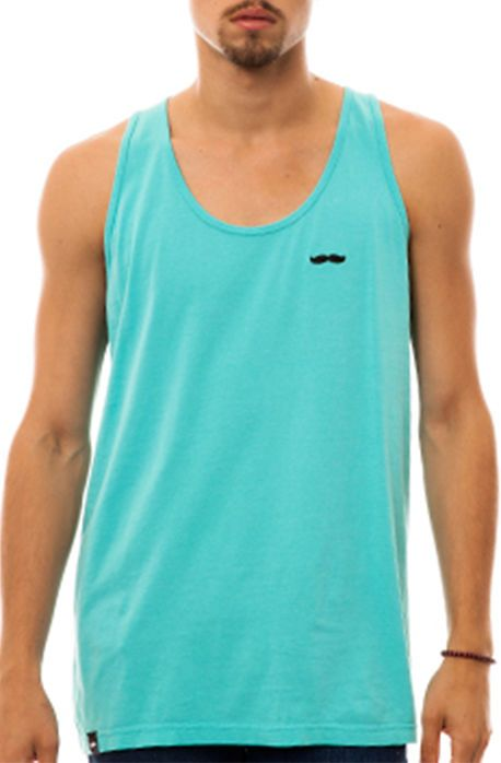 CBT The Signature Stache Tank in Teal