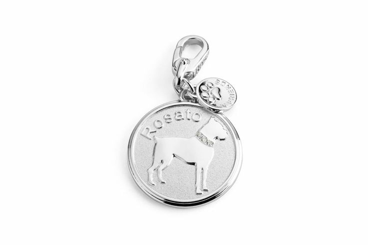 #Rosato #charm #myfriends collection #silver #whitezircon #Boxer BOXER Charm in argento 925 con zirconi bianchi