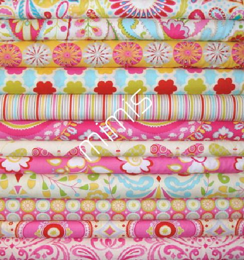 Dena Designs Fabric / 12 Fat Quarter Bundle / KUMARI GARDEN / Cotton Quilt Fabric. $35.99 USD, via Etsy.