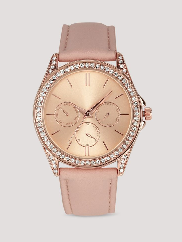 New Look Peach Leatehr Solid Analog Watch