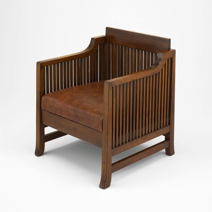 Frank Lloyd Wright  American, 1867–1959  Spindle Cube Chair, 1902/06