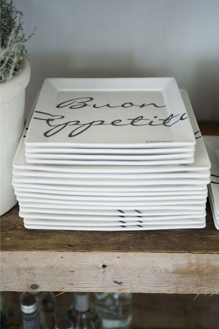 Rivièra Maison Webstore - accessoires | Servies | Borden | Buon Appetito Square Plate 18x18