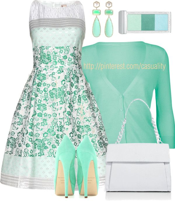 """50's Inspired Dress & Pumps"" by casuality on Polyvore"