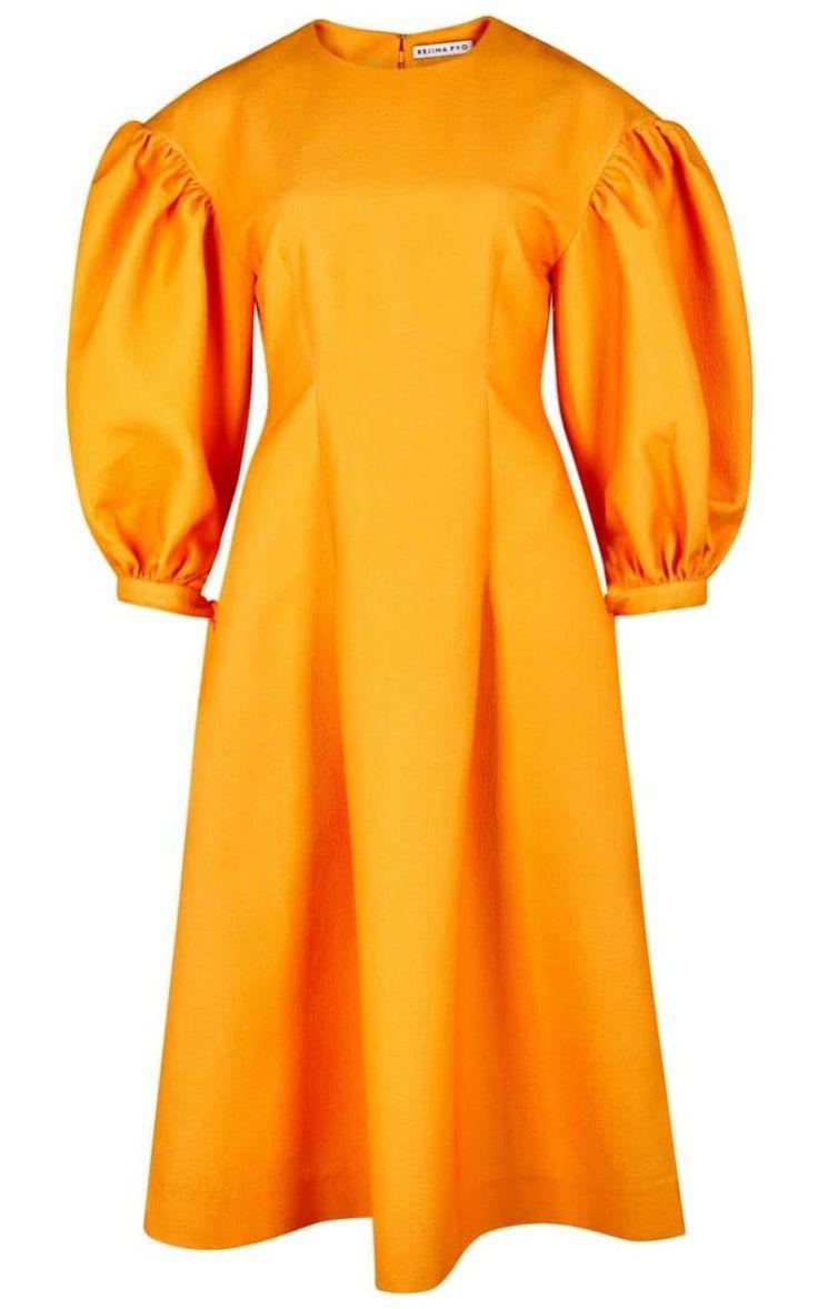 Rejina Pyo jamie marigold balloon-sleeve dress, £680, Harvey Nichols