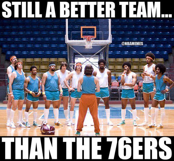 RT @NBAMemes: Die 76er sind buchstäblich semiprofessionell. – nbafunnymeme.com / …   – ball is life