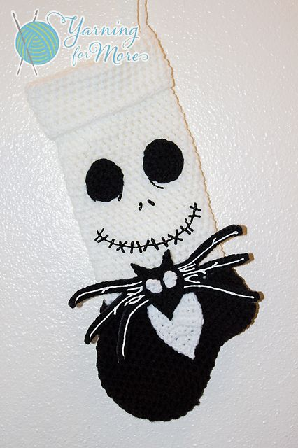 Ravelry: Jack Skellington Stocking FEATURES ONLY pattern by Ronda Goetz Now that's cute for the Jack lovers :)